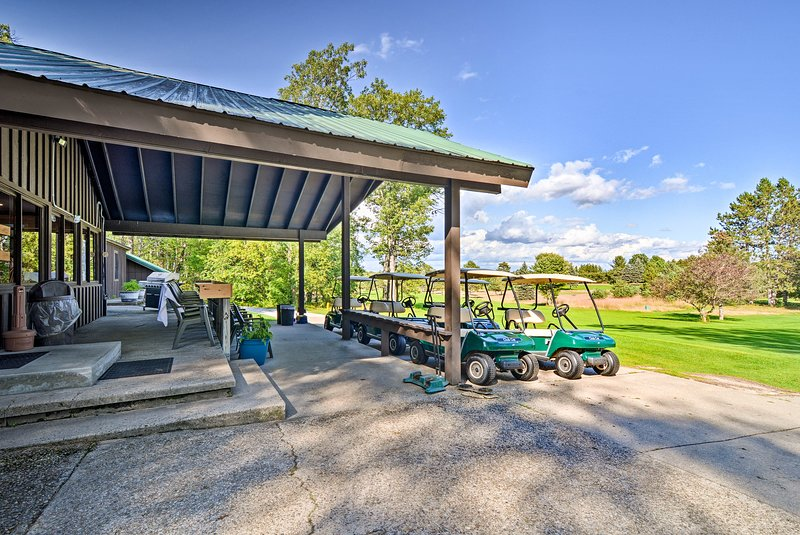 Golfers can tee off at the local course!