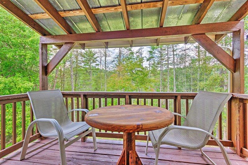Cozy Weaverville Cabin - 18 Mi to Wolf Ridge!, alquiler de vacaciones en Mars Hill