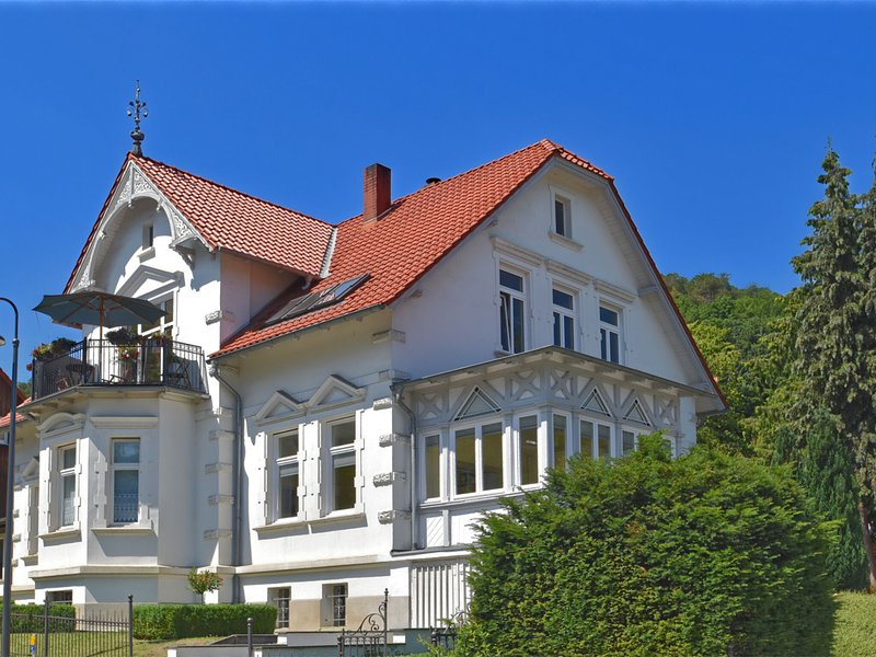 Bright ground floor apartment in Blankenburg in the Harz Mountains with wood sto, holiday rental in Rubeland