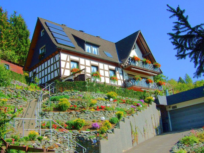 Beautiful holiday home with terrace and an amazing view of Hallenberg, holiday rental in Hallenberg