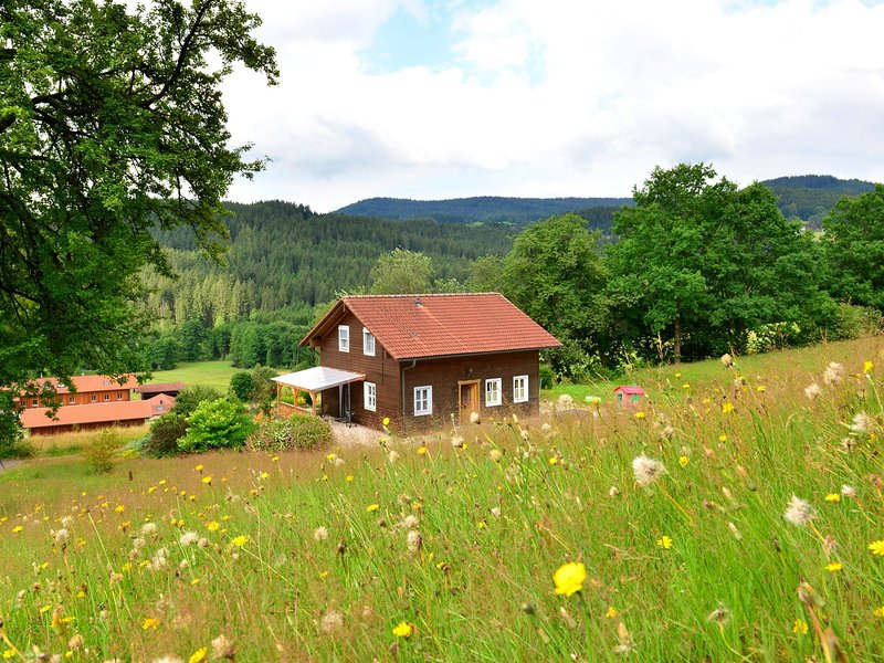 Detached holiday house in the Bavarian Forest in a very tranquil, sunny setting, casa vacanza a Teisnach