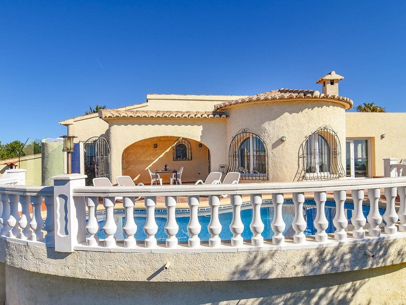 Sea View Villa with Swimming Pool in Benitachell, holiday rental in Benitachell