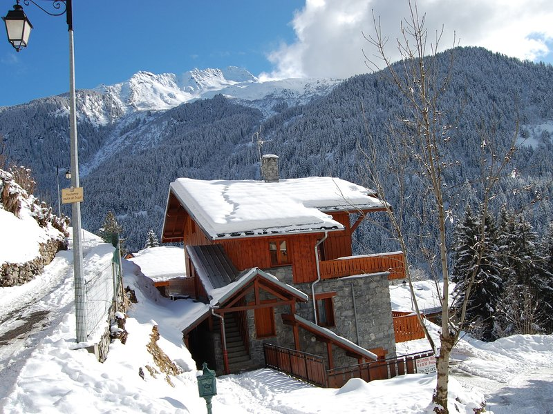 Beautiful view on Courchevel and the valley. Chalet in Champagny