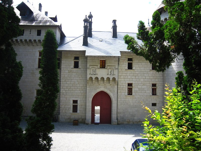 Castle apartment with swimming pool and beautiful view of Grand Colombier, location de vacances à Artemare