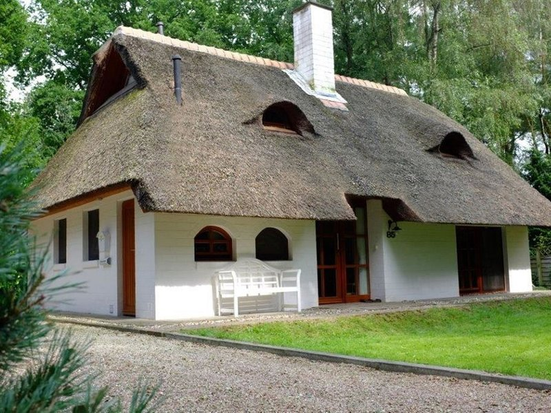Exclusive thatched roof house in the Samtgemeinde Uelsen with conservatory, alquiler vacacional en Uelsen