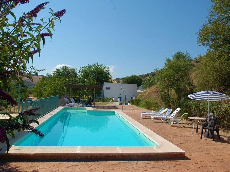 Spacious Mansion in Huétor-Tájar with Pool, holiday rental in Loja