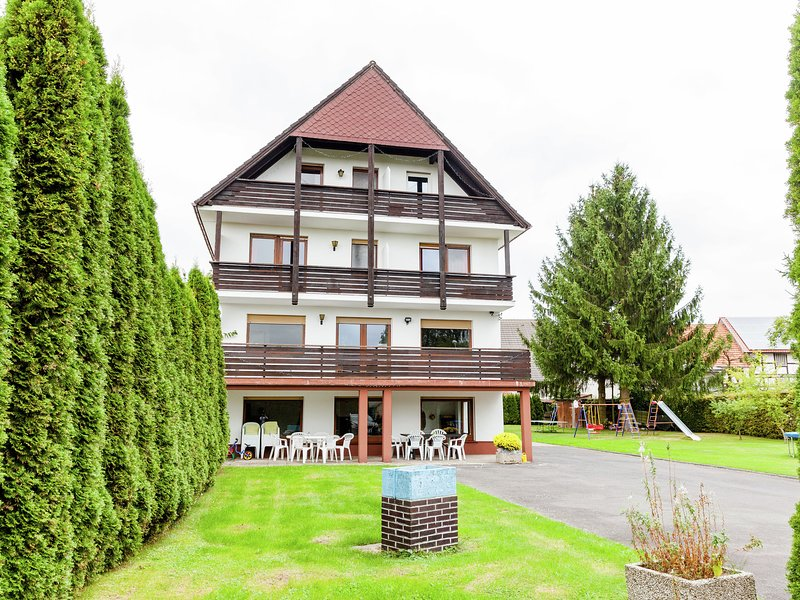 Large group house in Hesse with common room, terrace, garden - ideally situated, vacation rental in Neukirchen