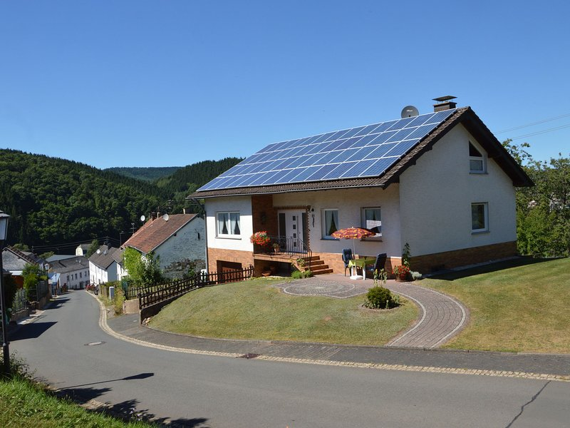 Nice detached holiday home with magnificent view in the picturesque Eifel villag, holiday rental in Malberg