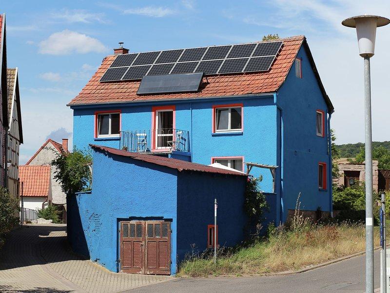 Mediterranean house in Kyffhäuserland with terrace and herb garden, holiday rental in Urbach