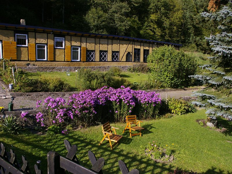 A unique studio on the estate of an old mill, in the midst of attractive country, location de vacances à Burgen