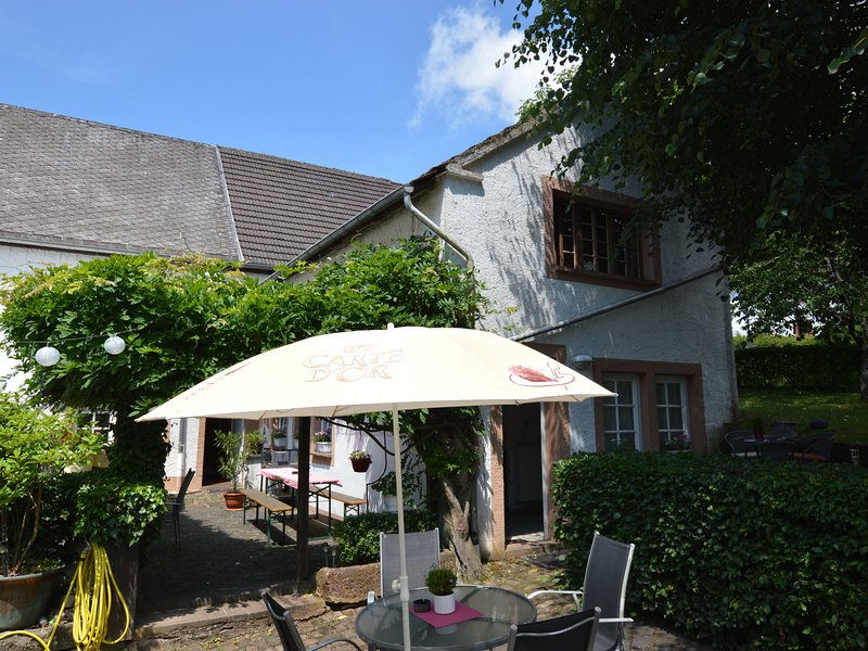 Beautiful and comfortable home in a hilly area with a spacious fenced garden, location de vacances à Manderscheid