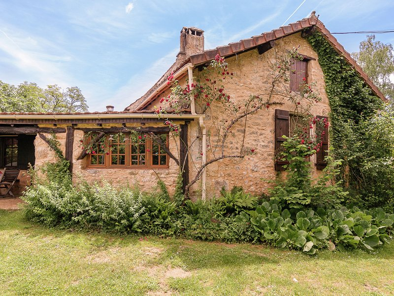 Family house in a fairytale hamlet with a beautiful swimming pool, holiday rental in Carmensac