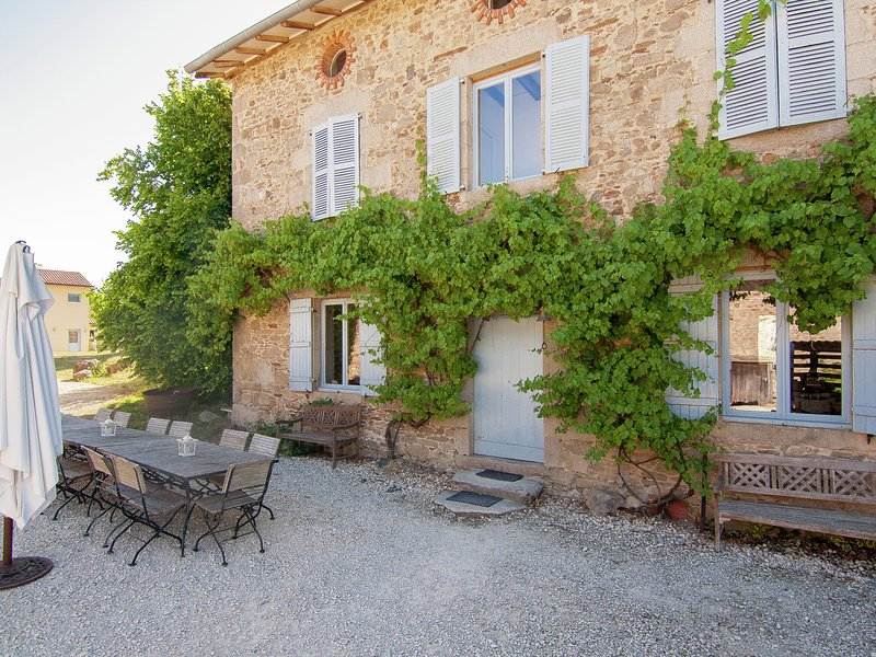 Very spacious, detached character holiday home with large terrace., vacation rental in Saint-Julien-le-Petit