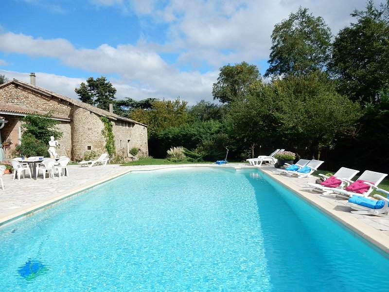 Beautiful house with separate country house on a beautiful 12th century estate, vacation rental in Chateauneuf-sur-Isere