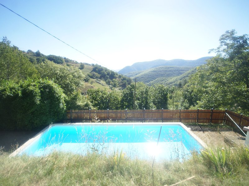 Detached, comfortable house with lovely private pool and terraces, holiday rental in Pranles
