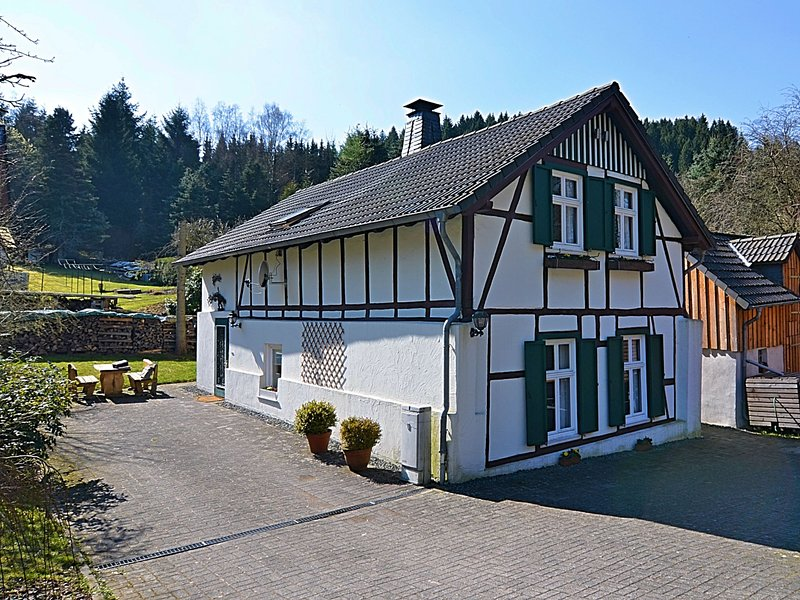 Gorgeous timbered farmhouse in the Sauerland with garden, fireplace and bar, holiday rental in Mohnesee