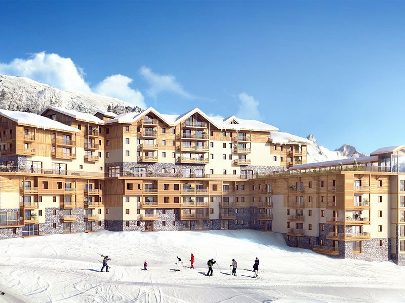 Modern comfortable apartment on the slopes in Les Menuires, holiday rental in Le Bettaix