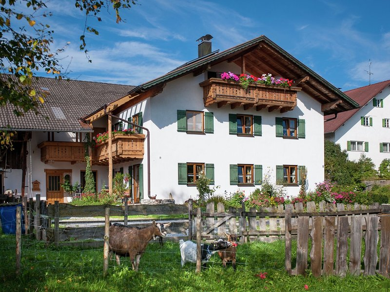 Apartment in a farmhouse with terrace and playground in the Pfaffenwinkel, casa vacanza a Ingenried