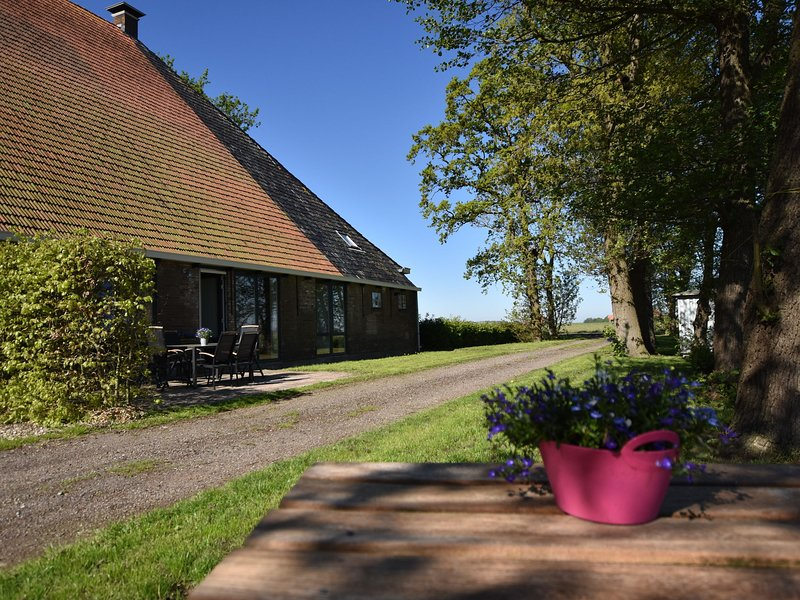 Rural holiday home in the Frisian Workum with a lovely sunny terrace, Ferienwohnung in Hindeloopen