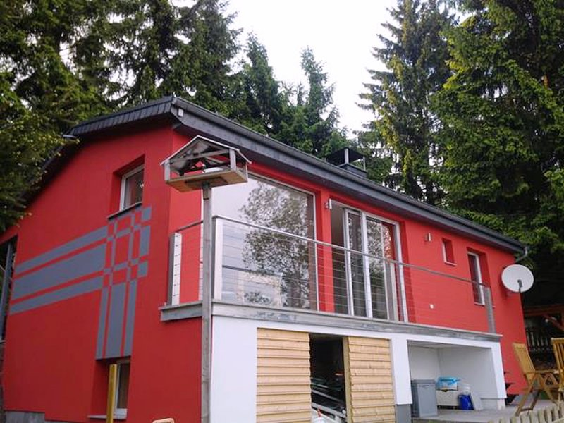 A wonderful holiday home in the Thuringian Forest - woodstove, balcony, patio, g, holiday rental in Neustadt am Rennsteig