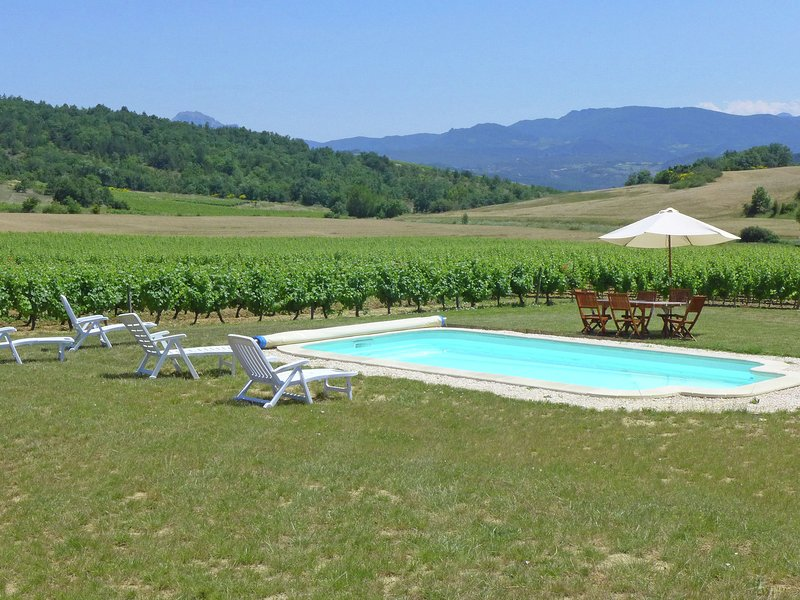 Traditional holiday on wine estate with private pool in South France, vacation rental in Serres