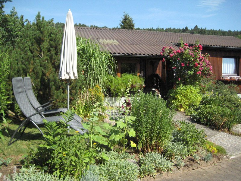Holiday home in the eastern Black Forest with covered outdoor seating and lovely, holiday rental in Rosenfeld