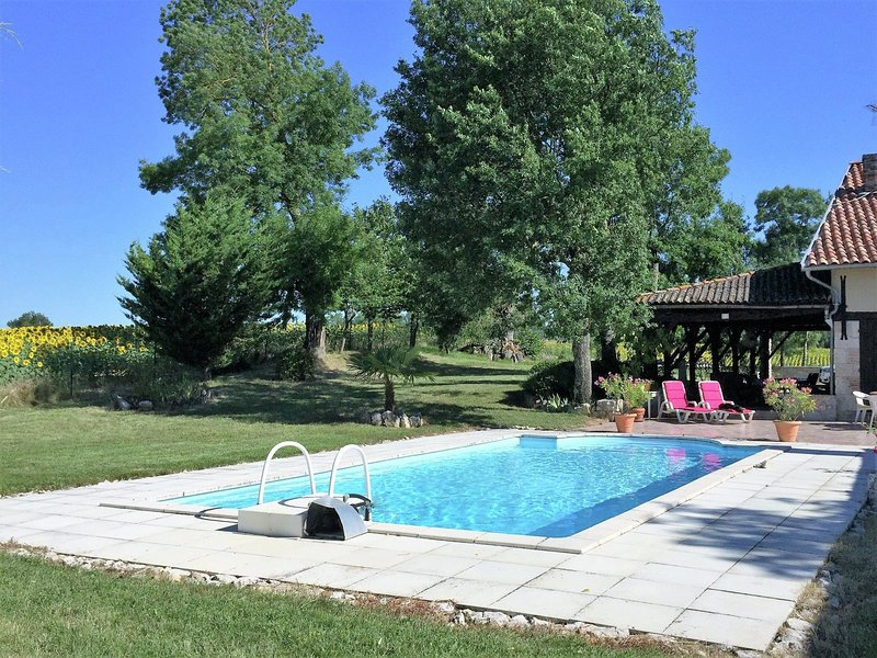Wonderful, cosy holiday home with private swimming pool in a quiet area., holiday rental in L'Isle-Bouzon