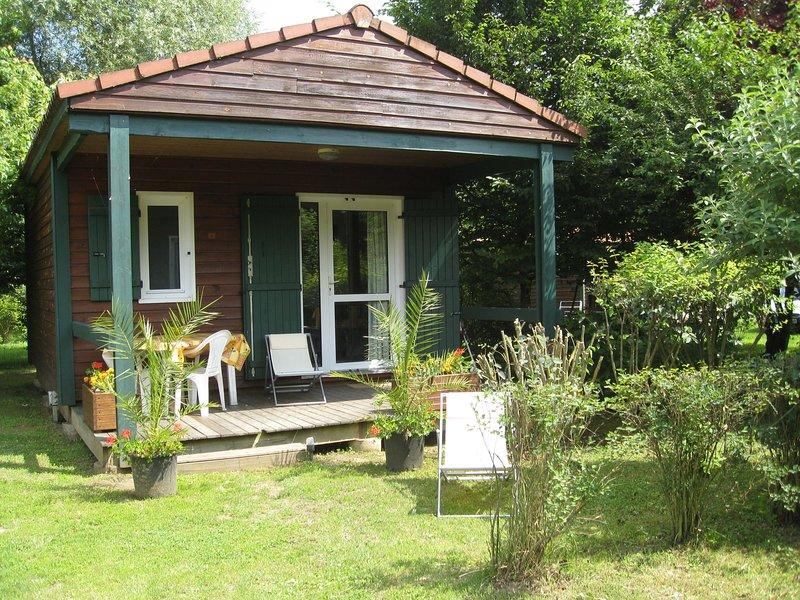 Cozy chalet with terrace near a beautiful old village, aluguéis de temporada em Lozanne