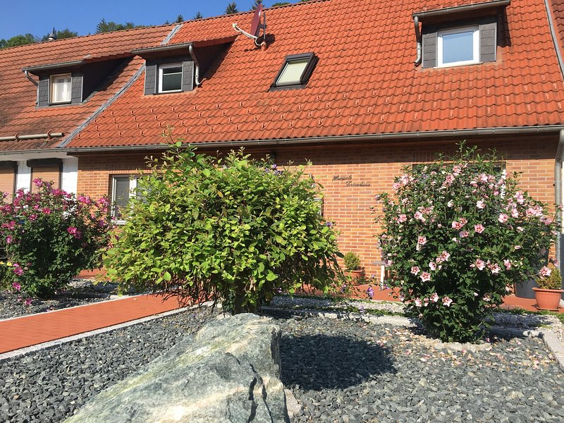 Modern and lightly-furnished holiday home in Harz with garden and terrace, holiday rental in Elbingerode