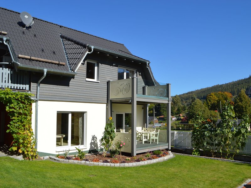 Luxury Apartment in Möhrenbach Thuringia,with barbecue, holiday rental in Neustadt am Rennsteig