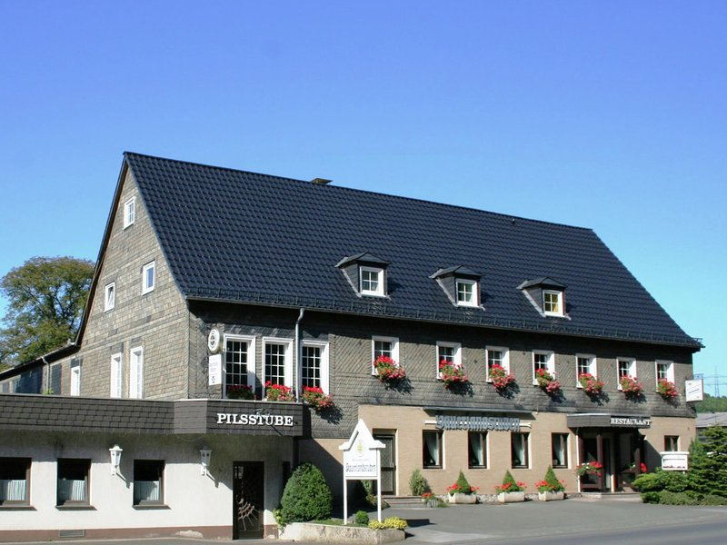 Modern holiday home in Sauerland with private restaurant and beer garden, vacation rental in Meschede