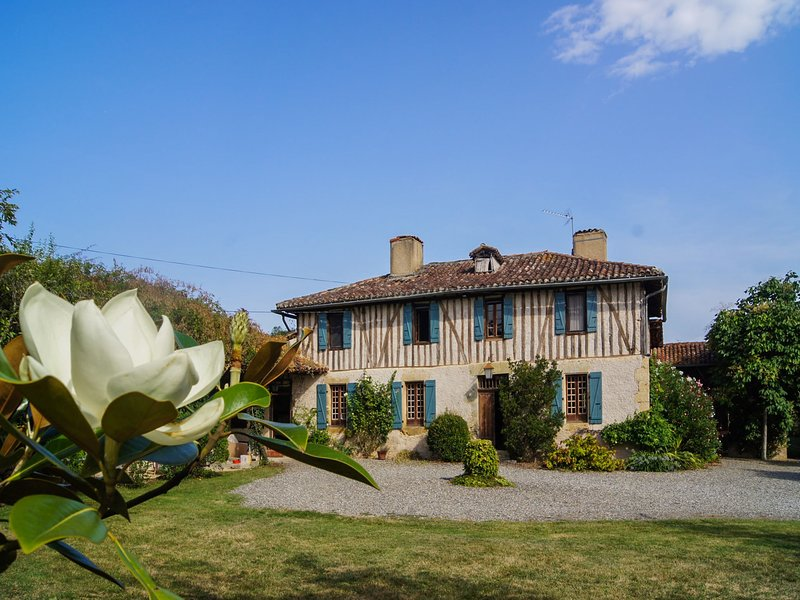 Beautifully renovated and authentic Gascogne villa with private pool., location de vacances à Arrouède