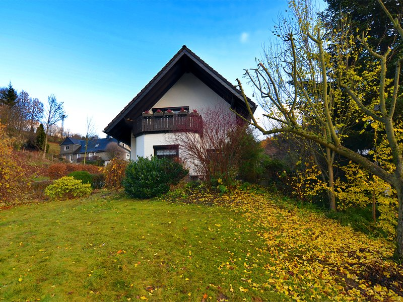 Very cosy holiday home in Olsberg with wood stove, garden, balcony and carport, holiday rental in Assinghausen
