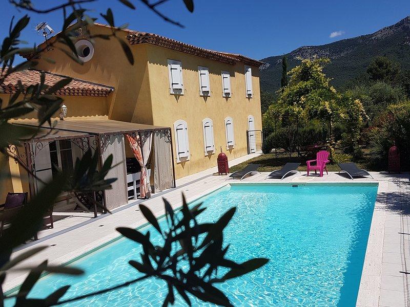 Recently built detached villa surrounded by vineyards in Trets, location de vacances à Pourrieres