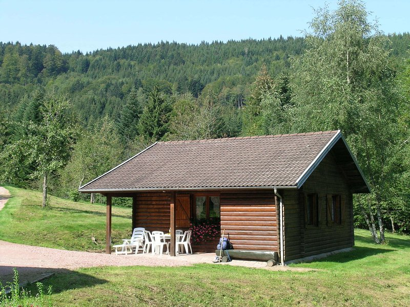 wooden chalet, skiing in the winter season, holiday rental in Oderen