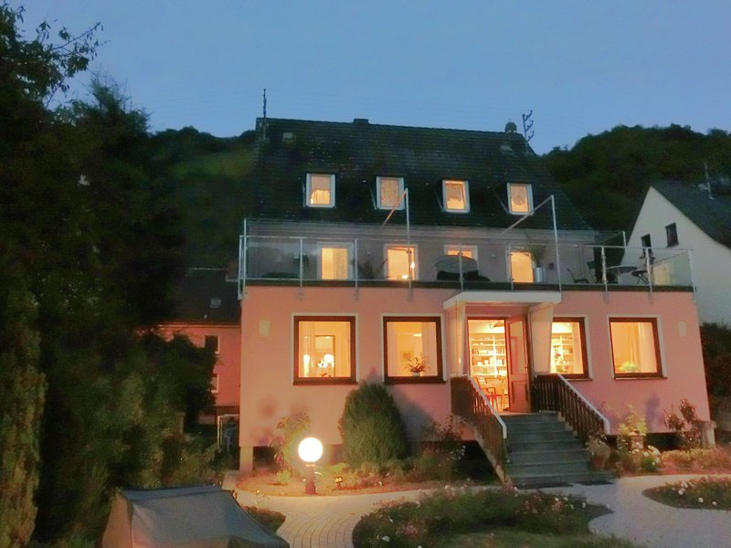 Amazing holiday home directly on the Rhine with roof terrace and a large garden, vacation rental in Sankt Goarshausen