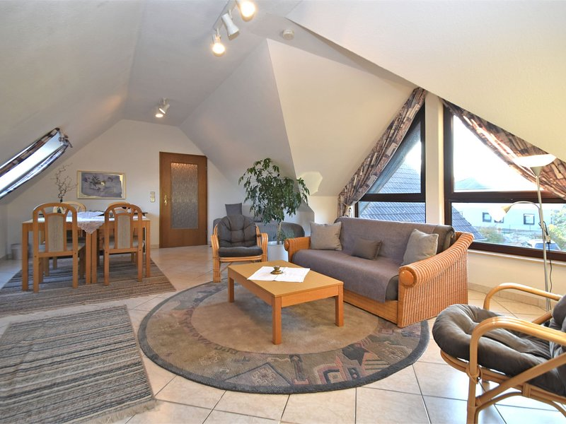Luxury apartment in northern Hesse with sunbathing lawn and barbecue area, aluguéis de temporada em Gilserberg