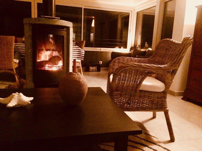 fireplace : rotative stove.