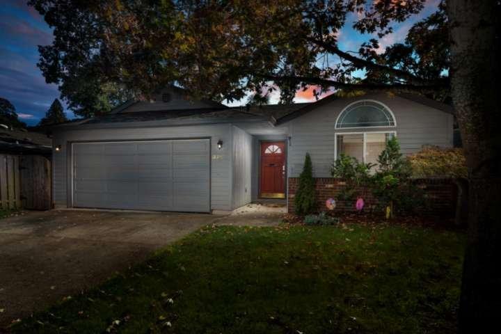 Single level home in quiet suburban neighborhood.