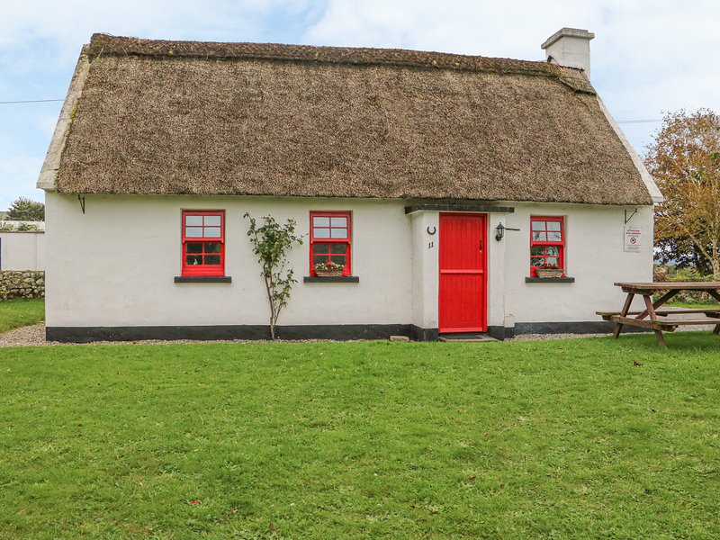 NO. 11 TIPPERARY THATCHED COTTAGE, detached, open fire, character cottage, in, vacation rental in Garrykennedy