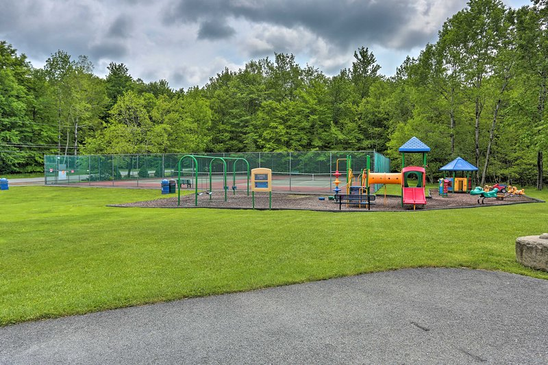The community features a playground perfect for sunny afternoons.