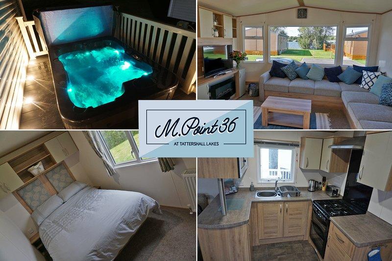 Beautiful 8 Berth,With Hot Tub and Lake Views - M.Point36 at Tattershall Lakes, holiday rental in Digby