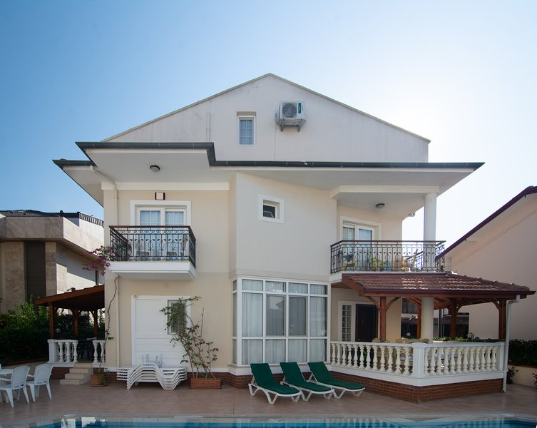 Our three storey villa with 3 double size en-suite bedrooms, two balconies and 3 terraces.