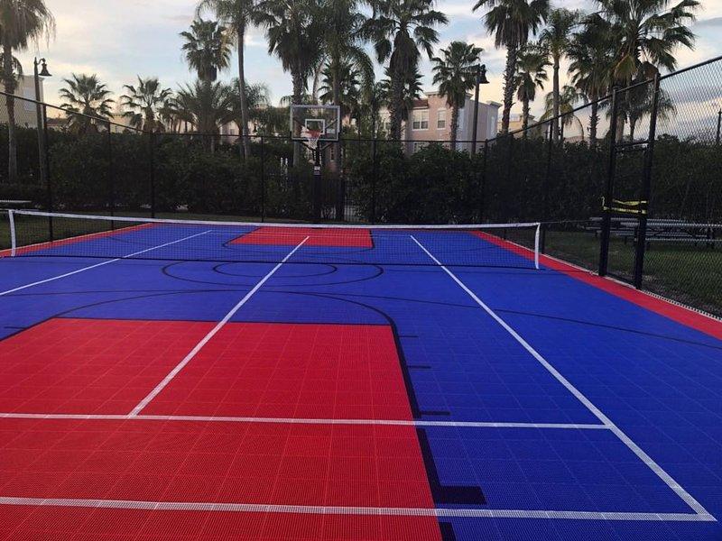 Basketball Court,Indoors,Outdoors,Lighting,Tennis Court