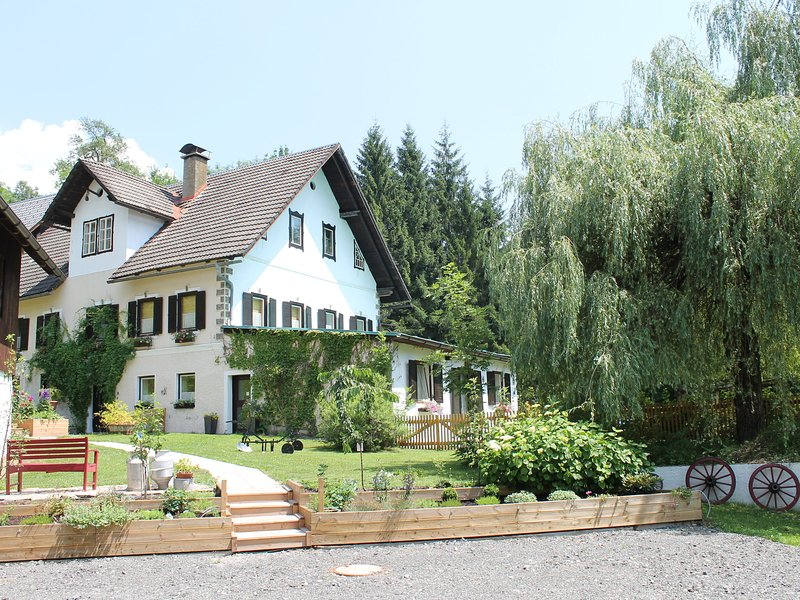 Large semi-detached house between Lake Weissensee and Nassfeld ski area, holiday rental in Jenig