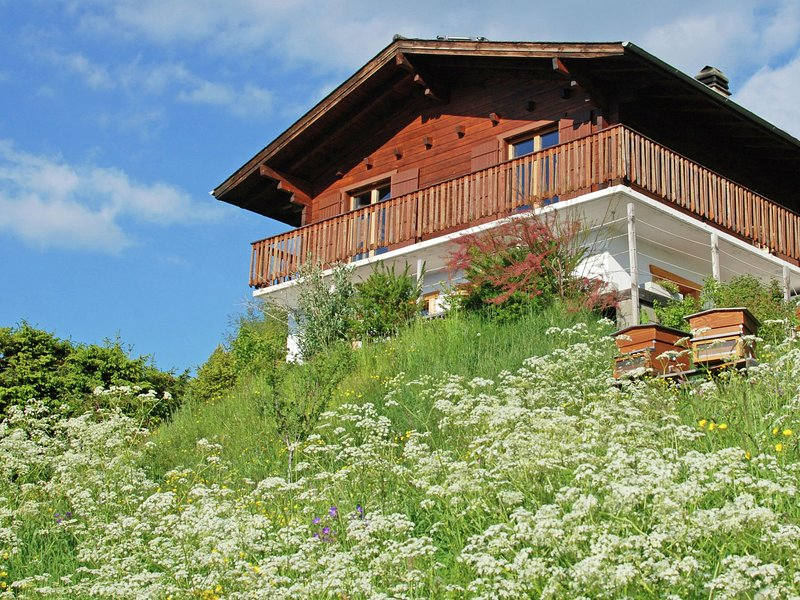 A detached chalet for 6 people with views of Veysonnaz., alquiler vacacional en Saviese