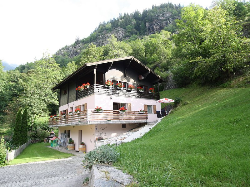 Looked after holiday house with a superb view concerning the Rhônedal., location de vacances à Rosswald