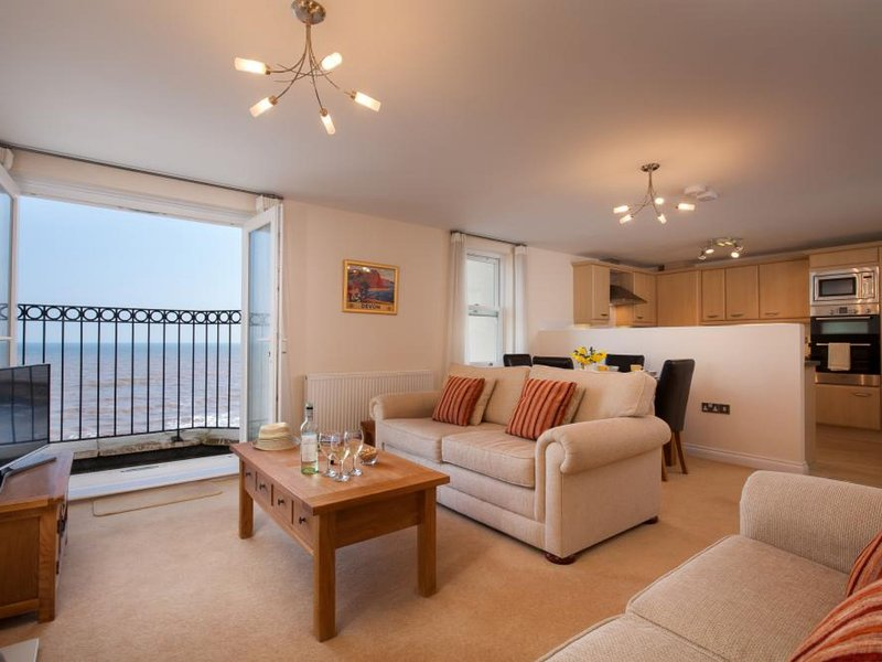 Modern Apartment in Dawlish with Dawlish Coast view, vacation rental in Dawlish