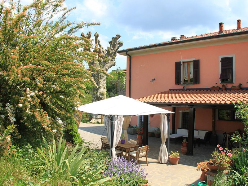 The apartment is inside the farm, located in a small village of 1300, vacation rental in Barbarasco