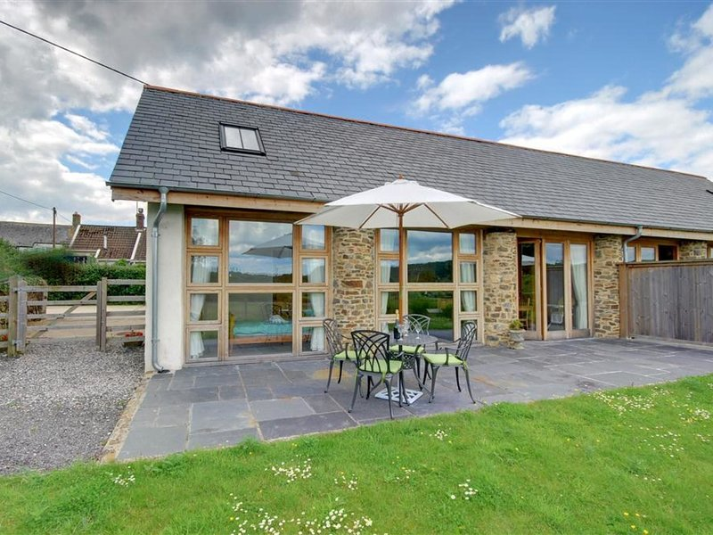Large, modern farmhouse in Umberleigh, with heigh ceilings and beautiful terrace, holiday rental in Swimbridge